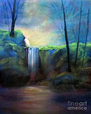 Painting - Misty Waterfall by Patricia Januszkiewicz