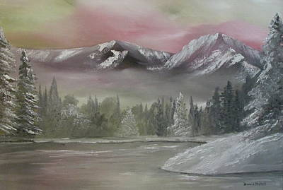 Nickel Yellow Painting - Misty Winter by Dawn Nickel
