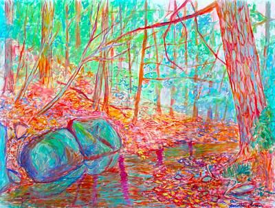 Painting - Misty Woods by Kendall Kessler