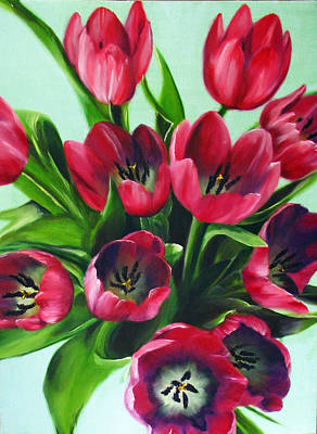 Painting - Mistys Tulips by Sherry Robinson