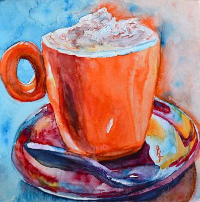Espresso Painting - Mit Schlagobers Bitte by Beverley Harper Tinsley