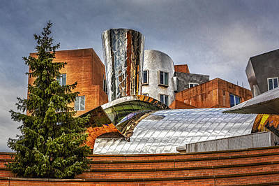 Photograph - Mit Stata Building Center - Cambridge by Susan Candelario