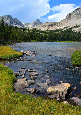 Mitchell Lake In The Indian Peaks Wilderness Colorado Original