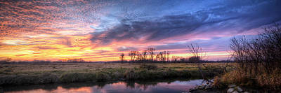 Warm Color Photograph - Mitchell Park Sunset Panorama by Scott Norris