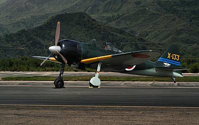 Pop Art Rights Managed Images - Mitsubishi A6M Zero Royalty-Free Image by Michael Gordon