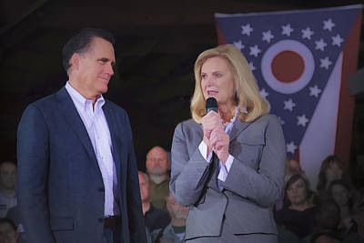 Photograph - Mitt And Ann Romney In Ohio 2012 by Jack R Perry