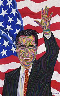 Painting - Mitt Romney by Robert SORENSEN