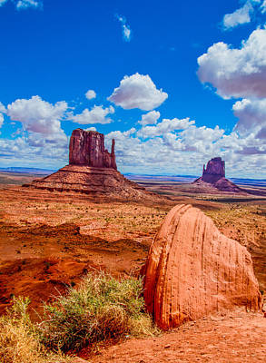 Photograph - Monument Valley Mittens Vertical by James Hammond