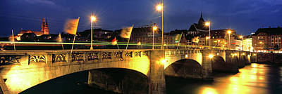 Basel Photograph - Mittlere Bruecke On Rhine River, Basel by Panoramic Images