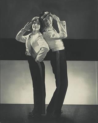 Mitzi Mayfair And Hal Le Roy Saluting Art Print