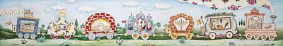 Jerusalem Painting - Mitzvah Train - Holiday by Michoel Muchnik