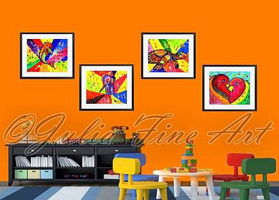 Julia Child Painting - Mix Animal Pop Art by Julia Fine Art And Photography