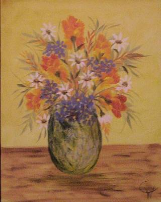 Component Painting - Mixed Bouquet by Carolyn Wear