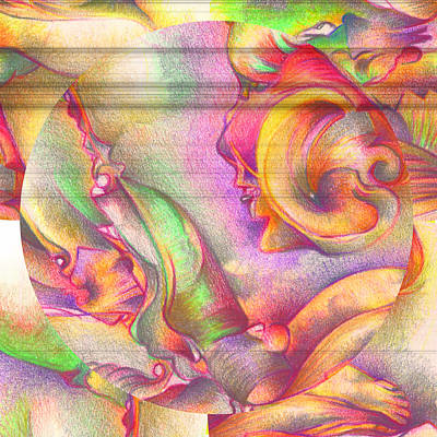 Colored Pencil Abstract Digital Art - Mixed Details by Bodhi