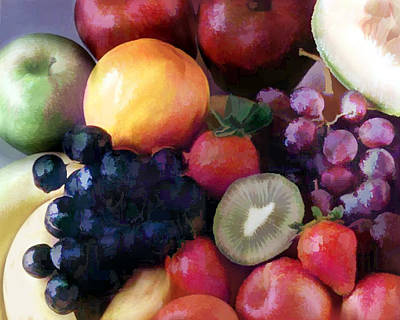 Mixed Fruit Print by Elaine Plesser