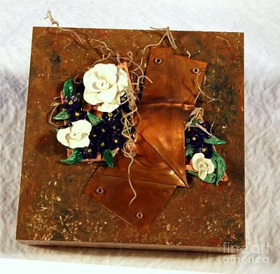 Mixed Media Flower Garden Art Print by P Russell