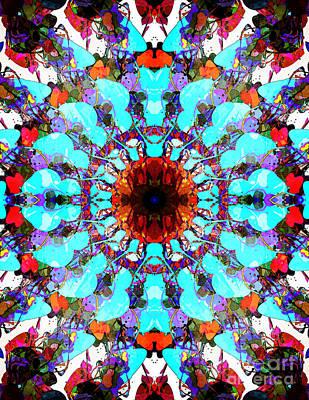 Mixed Media Mandala 1 Art Print by Phil Perkins