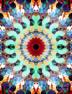 Mixed Media Mandala 2 Art Print by Phil Perkins