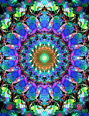 Mixed Media Mandala 3 Art Print by Phil Perkins