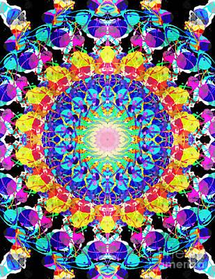 Mixed Media Mandala 6 Art Print by Phil Perkins
