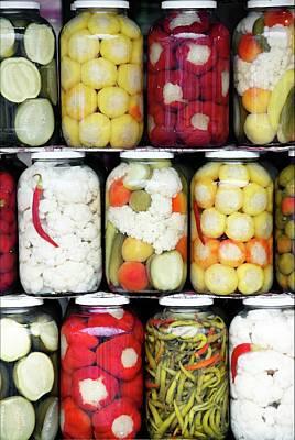 Jar Photograph - Mixed Pickles Sibiu Christmas Market by Paul Biris