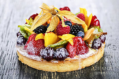 Tarts Photograph - Mixed Tropical Fruit Tart by Elena Elisseeva