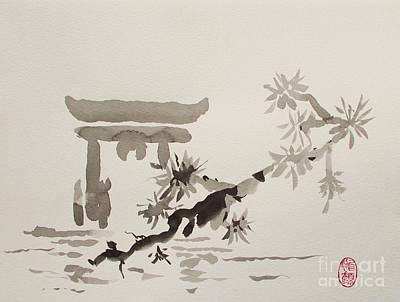 Miyajima De No Torii Art Print by Roberto Prusso