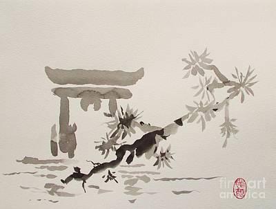 Painting - Miyajima De No Torii by Roberto Prusso