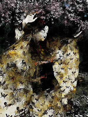 Digital Art - Miyako Odori II by Maynard Ellis