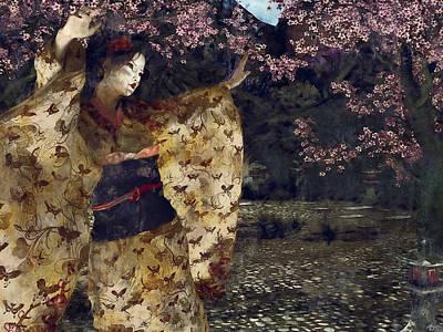 Geisha Digital Painting - Miyako Odori by Maynard Ellis