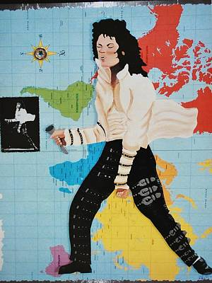 Painting - Mj Dirty Diana by Karen Buford