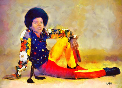 Mj - King Of Pop Art Print by Wayne Pascall