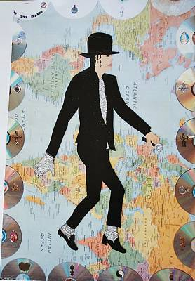 Painting - Mj We Are The World by Karen Buford