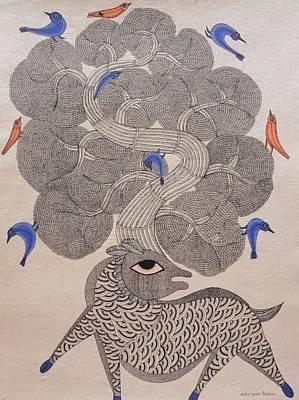 Gond Art Gallery Painting - Mkt 78 by Manoj Kumar Tekam