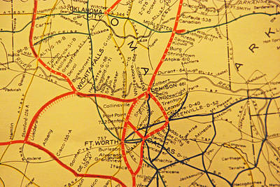 Photograph - Mkt Rr Route Map by Robyn Stacey