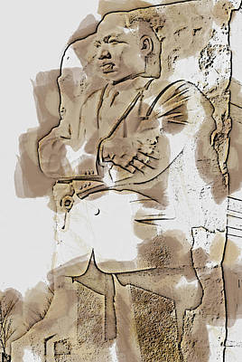Pop Art - MLK 5211 Brown Water Sketch by David Lange