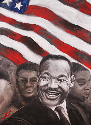 Martin Luther King Painting - MLK by Claire Kayser