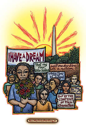 Washington Dc Mixed Media - I Have A Dream by Ricardo Levins Morales
