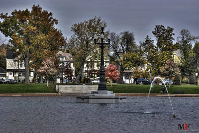 Autumn Photograph - Mlk Park Flowing Waters by Michael Frank Jr