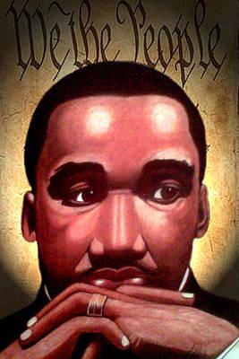 MLK Art Print by Victor Carrington