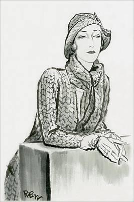 Mlle. De L'espee Art Print by Rene Bouet-Willaumez