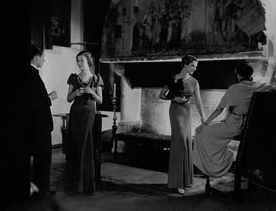 Party Photograph - Mlle. Koopman Wearing A Marocain Dress by George Hoyningen-Huene