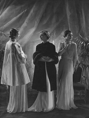 Chiffon Photograph - Mlle. Koopman Wearing A Satin Wrap by George Hoyningen-Huene