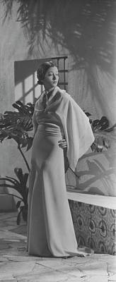 Chiffon Photograph - Mlle. Koopman Wearing Augustabernard by George Hoyningen-Huene