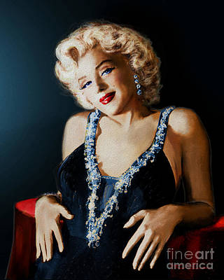 Movie Star Classic Movie Painting - Mm 126 Blue by Theo Danella