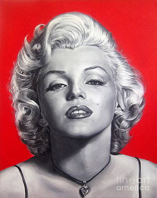 Sex Symbol Painting - Marilyn Monroe -painting by Stu Braks