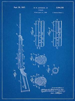 M.m. Johnson Firearm Patent Art Print by Decorative Arts