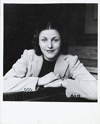 Mme. Geori-boue Wearing A Jacket Art Print by Horst P. Horst