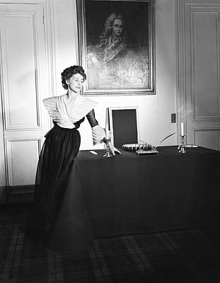 Madame Photograph - Mme. Miguel De Yturbe Wearing A Dinner Dress by Horst P. Horst