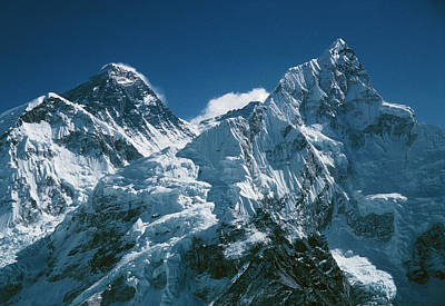 Everest Wall Art - Photograph - Mnts. Everest & Nuptse With South Col In Between by Simon Fraser/science Photo Library